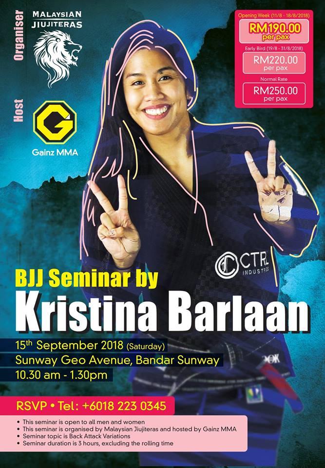 Kristina Barlaan Asian Championship Seminar Tour - BJJASIA