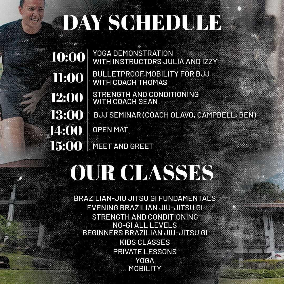 Temple BJJ Soft Opening Schedule